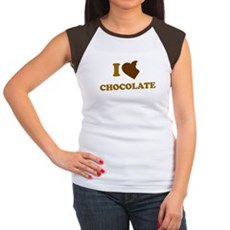 I Love [Heart] Chocolate Womens Cap Sleeve T-Shir