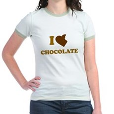 I Love [Heart] Chocolate Jr Ringer T-Shirt
