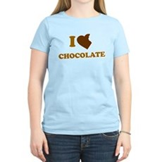 I Love [Heart] Chocolate Womens Light T-Shirt