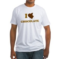 I Love [Heart] Chocolate Fitted T-Shirt
