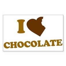 I Love [Heart] Chocolate Rectangle Sticker