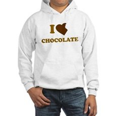 I Love [Heart] Chocolate Hooded Sweatshirt