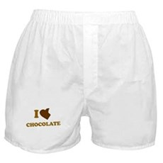 I Love [Heart] Chocolate Boxer Shorts