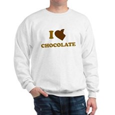 I Love [Heart] Chocolate Sweatshirt