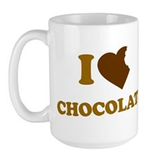 I Love [Heart] Chocolate Large Mug