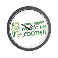I've Got the Cooties Wall Clock