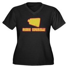 SNL More Cowbell Womens Plus Size V-Neck Dark T-S