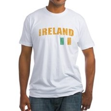 Vintage Ireland Soccer Fitted T-Shirt
