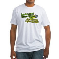 Chewing gum is really gross Fitted T-Shirt