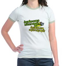 Chewing gum is really gross Jr Ringer T-Shirt
