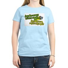 Chewing gum is really gross Womens Pink T-Shirt