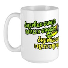 Chewing gum is really gross Large Mug