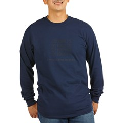 Geek in Binary - Long Sleeve Dark T-Shirt