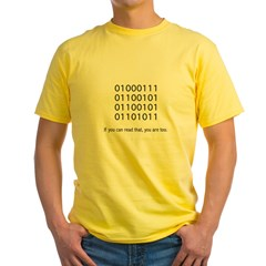Geek in Binary - Yellow T-Shirt