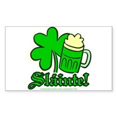 Sláinte! Rectangle Sticker