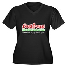 FESTIVUS™ for the rest-iv-us Womens Plus Size V-N