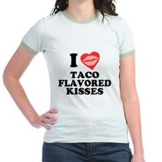 Taco Flavored Kisses Jr Ringer T-Shirt