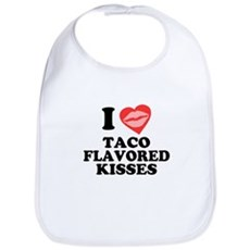 Taco Flavored Kisses Bib