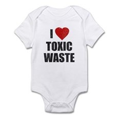 I Love [Heart] Toxic Waste Infant Bodysuit
