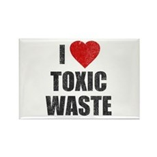 I Love [Heart] Toxic Waste Rectangle Magnet