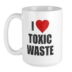 I Love [Heart] Toxic Waste Large Mug
