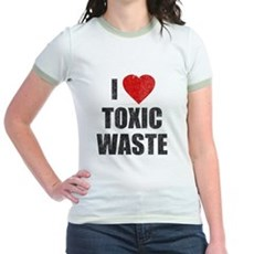 I Love [Heart] Toxic Waste Jr Ringer T-Shirt