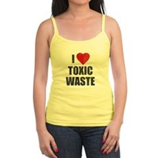 I Love [Heart] Toxic Waste Jr Spaghetti Tank