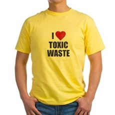I Love [Heart] Toxic Waste Yellow T-Shirt