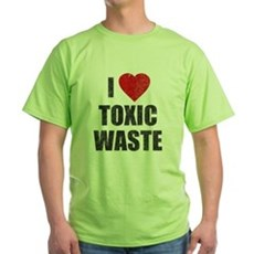 I Love [Heart] Toxic Waste Green T-Shirt