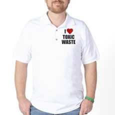I Love [Heart] Toxic Waste Golf Shirt