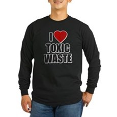 I Love [Heart] Toxic Waste Long Sleeve Dark T-Shir