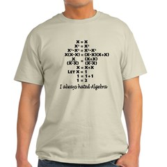 I Hate Algebra Light T-Shirt