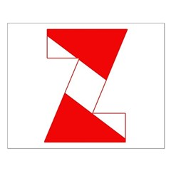 http://i2.cpcache.com/product/189254329/scuba_flag_letter_z_posters.jpg?height=240&width=240