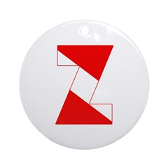 http://i2.cpcache.com/product/189254335/scuba_flag_letter_z_ornament_round.jpg?height=240&width=240