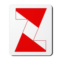 http://i2.cpcache.com/product/189254359/scuba_flag_letter_z_mousepad.jpg?height=240&width=240