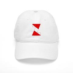 http://i2.cpcache.com/product/189254363/scuba_flag_letter_z_baseball_cap.jpg?color=White&height=240&width=240