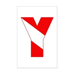 http://i2.cpcache.com/product/189257441/scuba_flag_letter_y_posters.jpg?height=240&width=240