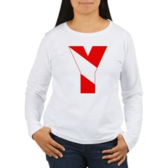 http://i2.cpcache.com/product/189257507/scuba_flag_letter_y_tshirt.jpg?color=White&height=240&width=240