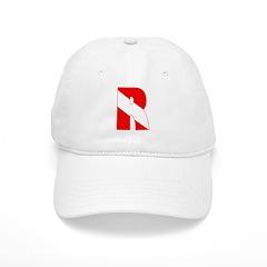 http://i2.cpcache.com/product/189266553/scuba_flag_letter_r_baseball_cap.jpg?color=White&height=240&width=240