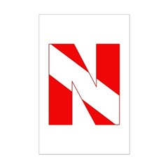 http://i2.cpcache.com/product/189272097/scuba_flag_letter_n_posters.jpg?height=240&width=240