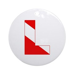http://i2.cpcache.com/product/189274617/scuba_flag_letter_l_ornament_round.jpg?height=240&width=240