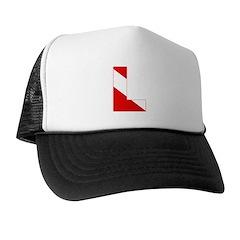 http://i2.cpcache.com/product/189274627/scuba_flag_letter_l_trucker_hat.jpg?color=BlackWhite&height=240&width=240
