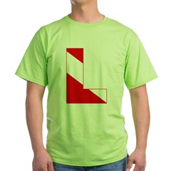 http://i2.cpcache.com/product/189274665/scuba_flag_letter_l_tshirt.jpg?color=Green&height=240&width=240