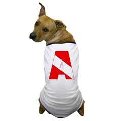 http://i2.cpcache.com/product/189285215/scuba_flag_letter_a_dog_tshirt.jpg?color=White&height=240&width=240