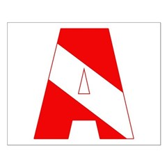 http://i2.cpcache.com/product/189285217/scuba_flag_letter_a_posters.jpg?height=240&width=240