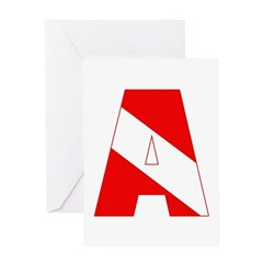 http://i2.cpcache.com/product/189285227/scuba_flag_letter_a_greeting_card.jpg?height=240&width=240