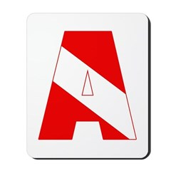 http://i2.cpcache.com/product/189285229/scuba_flag_letter_a_mousepad.jpg?height=240&width=240