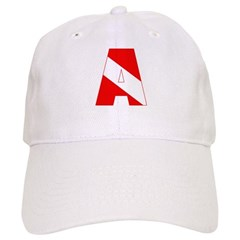 http://i2.cpcache.com/product/189285233/scuba_flag_letter_a_baseball_cap.jpg?color=White&height=240&width=240