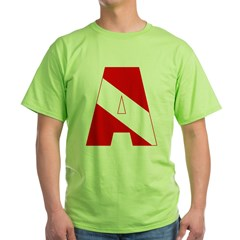 http://i2.cpcache.com/product/189285257/scuba_flag_letter_a_tshirt.jpg?color=Green&height=240&width=240