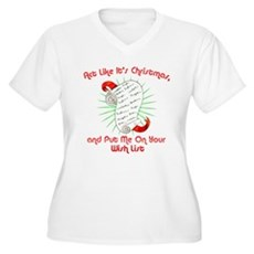Act Like It's Christmas Womens Plus Size V-Neck T